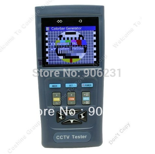 "Free shipping!!2.8"" Monitor CCTV Video Audio Surveillance PTZ Camera Tester Output 12V 1A ZOOM(China (Mainland))"