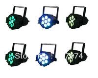 6X LOT NEW ARRIVAL American DJ Light 7pcs*10W 4in1 RGBW  Mini LED Par Light,LED Mega Par38,Stage Light,LED Quad Par Can