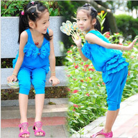 Casual children sport suit  for girl summer wholesale and retail with free shipping