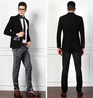 unique slim fit suit for men peak lapel one button