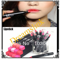 2014 Brand new high quality Lipstick pen, lip liner, colorful lipstick 3CE elegant textured lipstick pen 5pcs/ lot freeshipping