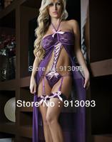 2014 New  Sexy Lace Lingerie Ladies Baby Doll Teddies Garters Women Sleepwear Costume Nightwear Underwear Long Dress 8011