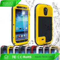Gold Color Aluminium titanium alloy metal Water proof Case For Samsung Galaxy i9500 S4 Waterproof Case Cover