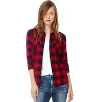 New Spring Autumn 2014 Women Plaid Shirt &Top Plaid Printed Women's Brand Shirts Long-sleeve Free Shipping Ladies Fashion Tops