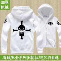 Outerwear luffy strawhat hoody fleece sweatshirt