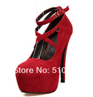 2013 fashion wedding payty lady platform red bottom women 14cm ultra high heels women pumps and women's shoes #Y8083H