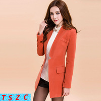 2013 autumn winter women's slim woolen outerwear medium-long trench female coat