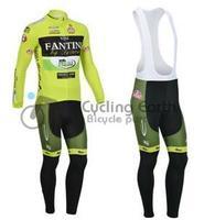Free shipping! 2013 VINI FANTINI long sleeve bib cycling wear clothes bicycle bike  cycling jersey bib pants set +silicone pad