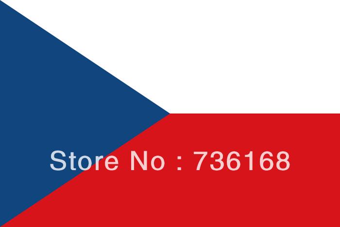 Free shipping 4# Czech flag of country polyester Czech flag & banner 3*5 feet good quality Czech national flag Czech(China (Mainland))