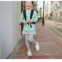 Child fake all-match second pieces culottes legging - - Light gray s 2363 - 1