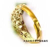 fashion brand new 18k gold plated rings full sky stars ring for women wedding rings open size acrylic bag