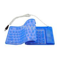 USB Foldable Flexible Full Size Keyboard for PC Mac #SV288