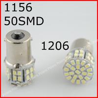 2pcs/lot 1156 BA15S 2057 T25 1206 50 SMD LED 50smd 50led 1206/3020 Car Brake Stop Tail Light Lamp Bulb White #FEJI294