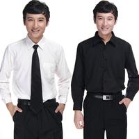 free shipping Male shirt black work shirt professional long-sleeve shirt general