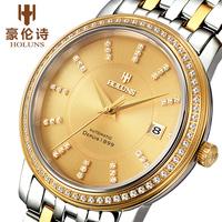 Classic Men mechanical self wind automatic watch brand HOLUNS 2013 man watches 18K 316l  stainless steel luxury crystal diamond