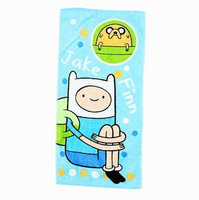 Free Shipping New 2013 Adventure Time Face Towel 100% Cotton Kids Face Towel Finn And Jake cartoon towel 28*55cm