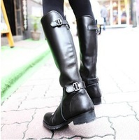 2013 winter boots fashion platform high-heeled medium-leg boots flat boots women's shoes martin boots
