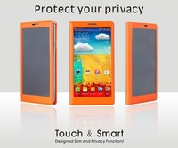 Privacy Guard Case for Samsung Galaxy Note 3/N9009 Mobilephone Leather Case 4 Colors Protect your privacy with Retail Box