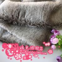free shipping Meters 1.5cm Light gray plush faux fur outerwear fur collar vest faux fabric