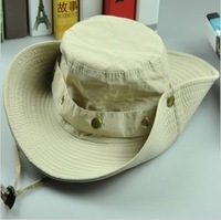 Outdoor hat jungle hat Camouflage sunbonnet bucket hat male women's fishing cap beach large brim cap