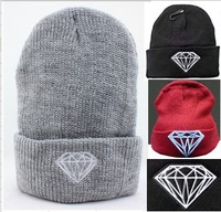 Diamond hip-hop winter cold cap cap hip-hop cap knitting hat sets ski hat cap