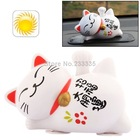 Solar Energy Simulation Lucky Cat Car Decoration Toy(China (Mainland))