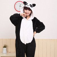 free shipping Autumn and winter cartoon animal heavly lovers black and white long-sleeve one piece sleepwear lounge