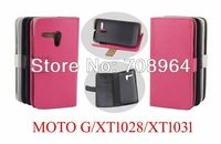 New Crazy Horse Grain PU Wallet Leather Cover With Card Slot For Motorola G DVX XT1032 XT937C XT1028 XT1031