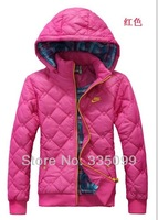Free shipping, down jacket female lady sport coat, new winter sports wear cotton clothes woman coat fleeces