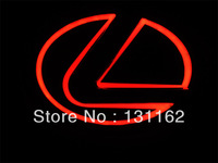 2013 Newest Design 10.5*6.8cm Lexus LED logo decorative light 3color