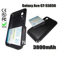 3800mAh Business Extend Battery For Samsung Galaxy Ace GT-S5830 S5830 + Back Cover Door Bateria Batterij Accumulator AKKU PIL