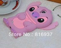 200pcs/lot Fast shipping 3D Stitch Silicone Cover Case for Samsung Galaxy S4 SIV i9500 DHL EMS FedEx