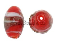 Free shipping!!!Gold Sand Lampwork Beads,New 2013 Jewelry, Oval, 11x17mm, Hole:Approx 1mm, 100PCs/Bag, Sold By Bag