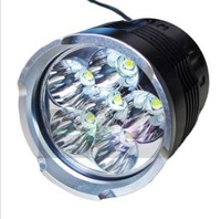 Sky Ray 6T6 Bike Light 6*Cree XM-L T6 6000-Lumen 4-Mode LED Front Bicycle Light and LED Headlamp