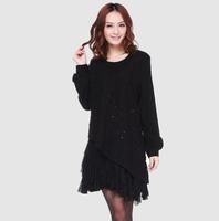 Autumn one-piece dress gentlewomen elegant big size clothing long-sleeve autumn outerwear women's basic skirt