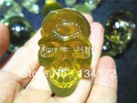 free shipping citrine crystal skull