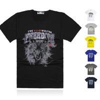 2014 free shipping men's designer brand new fashion short-sleeve t shirts sports casual T-shirt large size