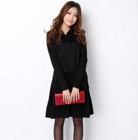 Big size one-piece dress chiffon 2013 winter formal women's  faux two piece outerwear fashion elegant slim