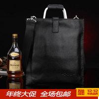 vertical male genuine leather handbag shoulder   messenger   fashion business   brief envelope bag
