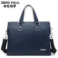 Fine man    commercial handbag genuine cowhide leather briefcase laptop   messenger   travel bag