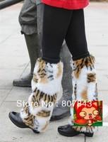 newest women's Fluffy Fuzzy Faux Fur Fashion/Dance Leg Warmers  Muffs Boot Covers 40cm