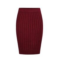 Autumn and winter outfit all-match OL basic elastic plus size slim hip twist yarn short skirt bust skirt women's