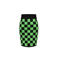 2013 autumn casual checkerboard palid all-match basic elastic plus size slim hip skirt step bust skirt short skirt women's