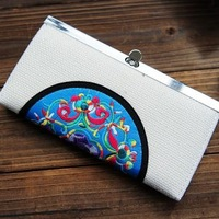 (Min order $10) Unique folk embroidery wallet