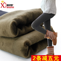 Maternity legging autumn and winter thickening warm pants plus velvet maternity pants trousers maternity clothing autumn and