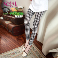Maternity clothing winter maternity pants trousers fashion maternity legging autumn and winter thickening houndstooth