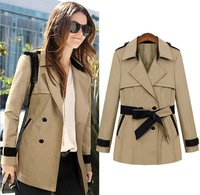 new arrival women's trench long style beige/ blue free style fashion lady's coat Z698