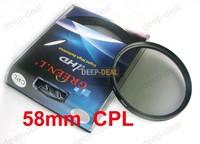 Green.L 58mm Circular Polarizing CPL C-PL PL-CIR Filter
