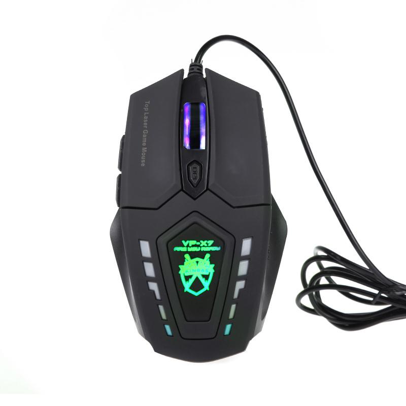 Vp-x7 6D кнопки 2400 точек/дюйм супер лазерная игровая мышь проводная для PC компьютер геймер