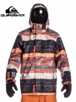 Free Shipping, IN STOCK,NEW 2013 brand original QUIK-SL-21 winter ski jacket for men,plus size , snow jacket & coat  for men